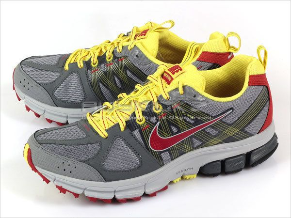 Nike Wmns Air Pegasus+ 28 Trail Cool Grey/Red Dark Grey Yellow 2011