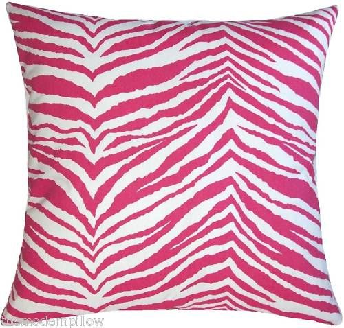 18 CANDY PINK ZEBRA throw pillow cover