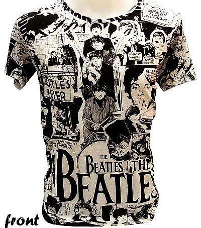 The Beatles 70s Retro Comic Rare VTG Rock T Shirt XL