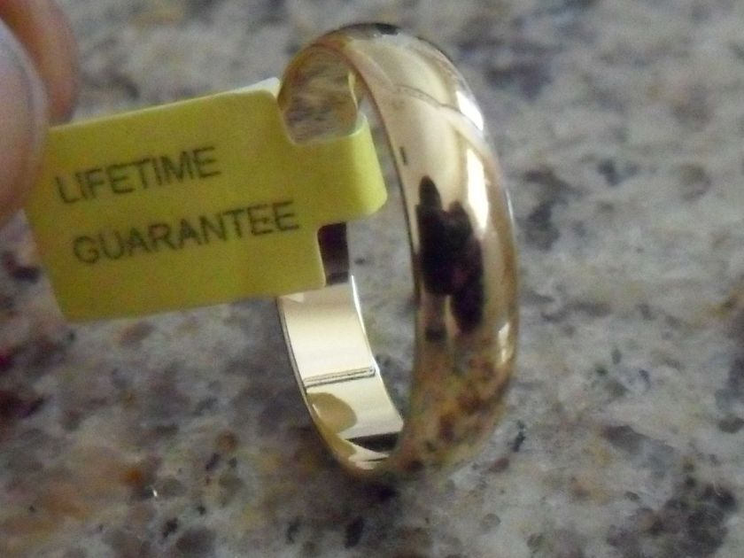 4MM 18K GOLD PLATED WEDDING BAND RING IN SIZES 6 14
