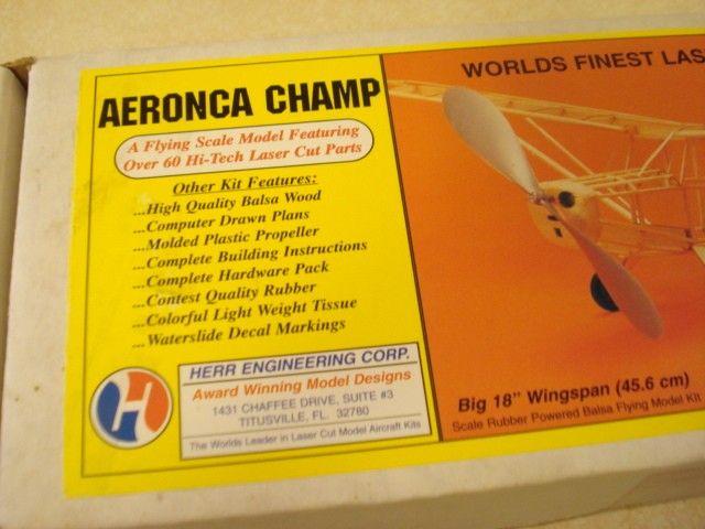 HERR ENGINEERING AERONCA CHAMP RUBBER POWERED MODEL AIRPLANE KIT